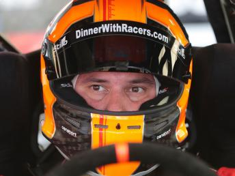 Ryan Eversley wearing helmet in driver's seat